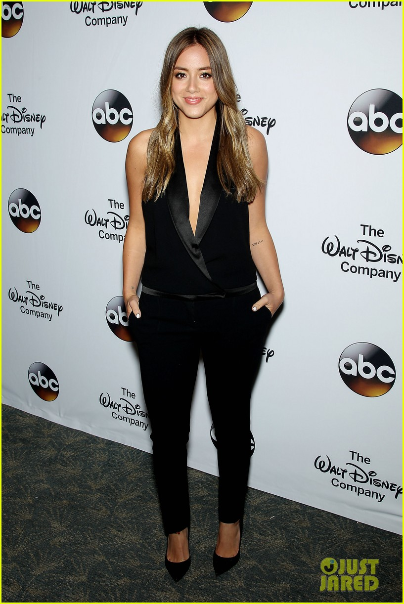 chloe bennet austin nichols make first red carpet appearance 17