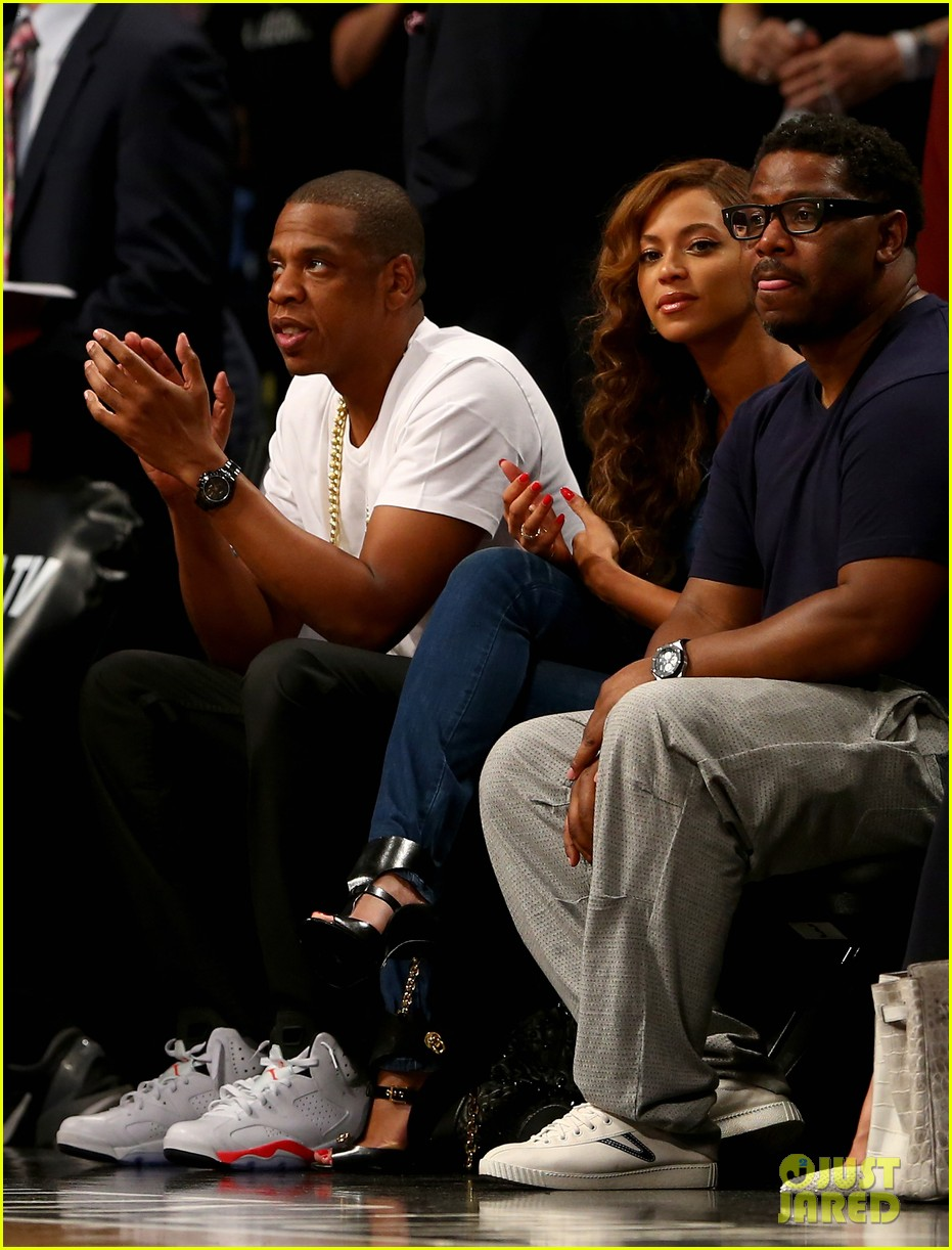 beyonce jay z nets game after solange fight leaks 043112035