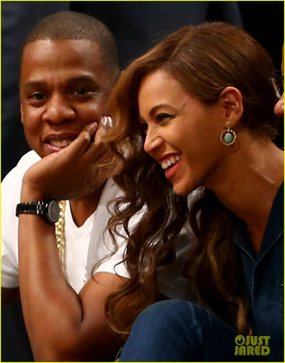 beyonce jay z nets game after solange fight leaks 053112036