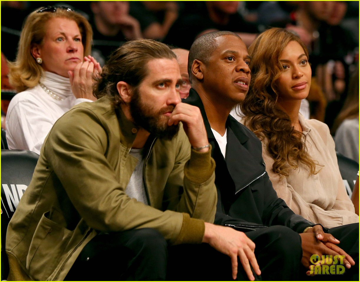 beyonce jay z nets game with jake gyllenhaal 053110507