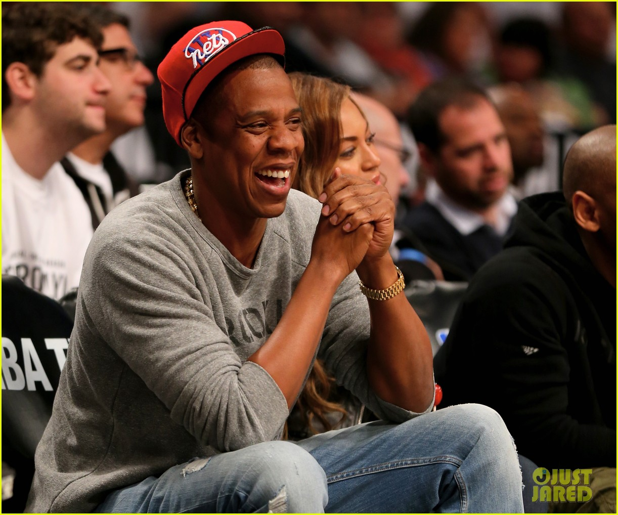 Beyonce Jay Z Root For Brooklyn Nets Drake Cheers On Raptors Photo 3104047 Beyonce Knowles Chris Ivery Drake Ellen Pompeo Jay Z Pictures Just Jared