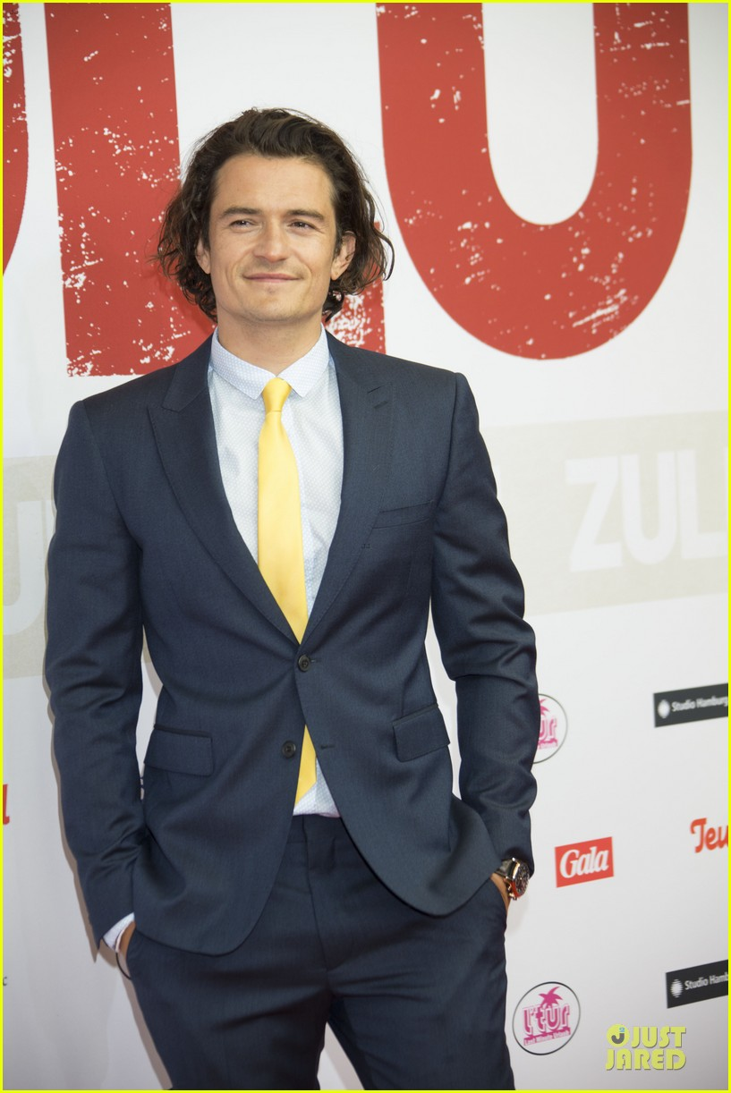 orlando bloom yellow tie zulu germany premiere 023106626