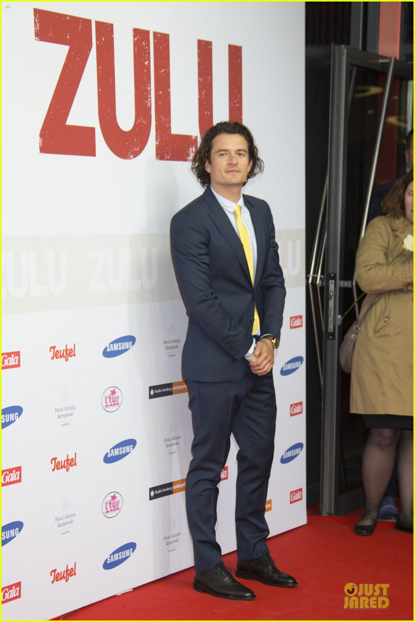 orlando bloom yellow tie zulu germany premiere 103106634
