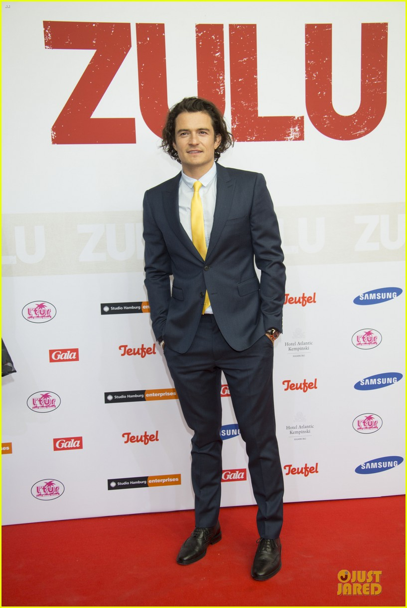 orlando bloom yellow tie zulu germany premiere 123106636