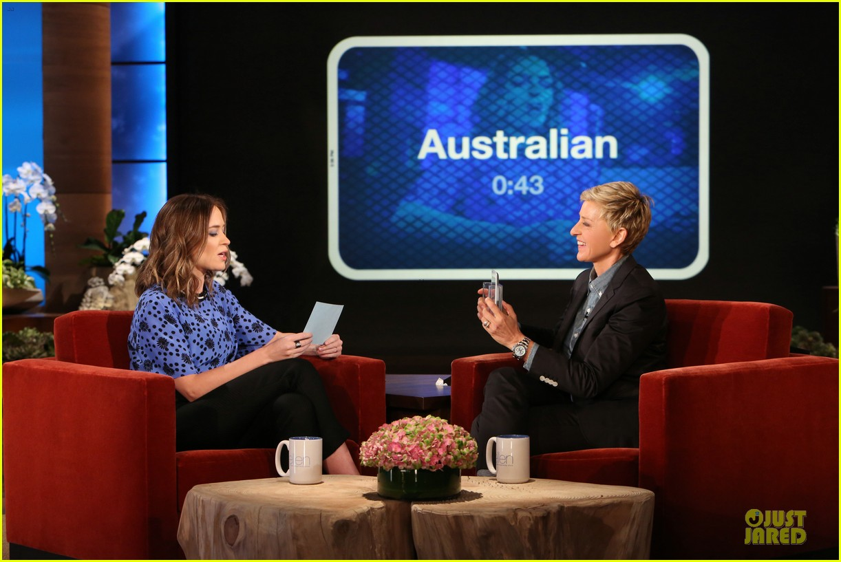emily blunt opens up on hazel on ellen 033113009