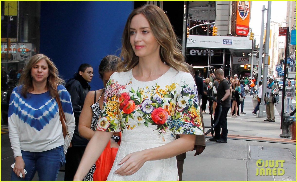 emily blunt floral dress for gma 023123956