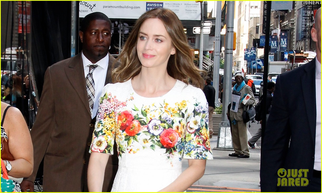 emily blunt floral dress for gma 033123957