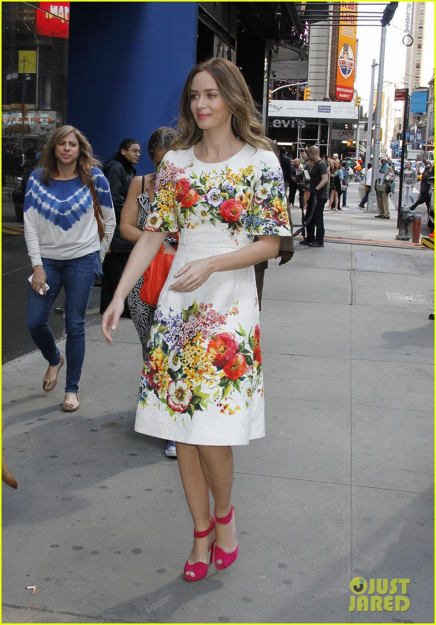 emily blunt floral dress for gma 043123958
