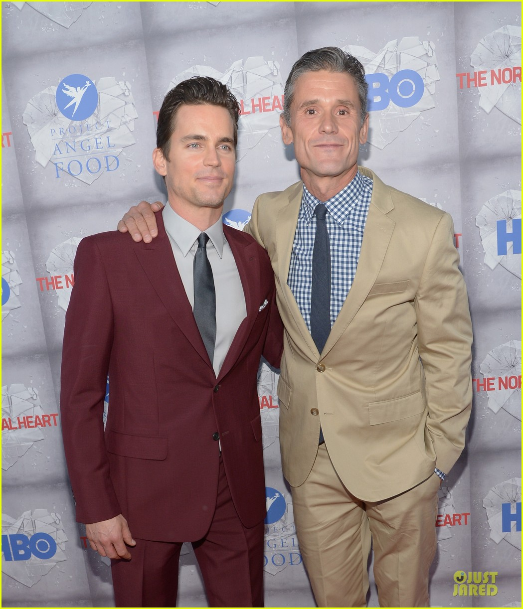 matt bomer maroon suit normal heart la premiere 103117910