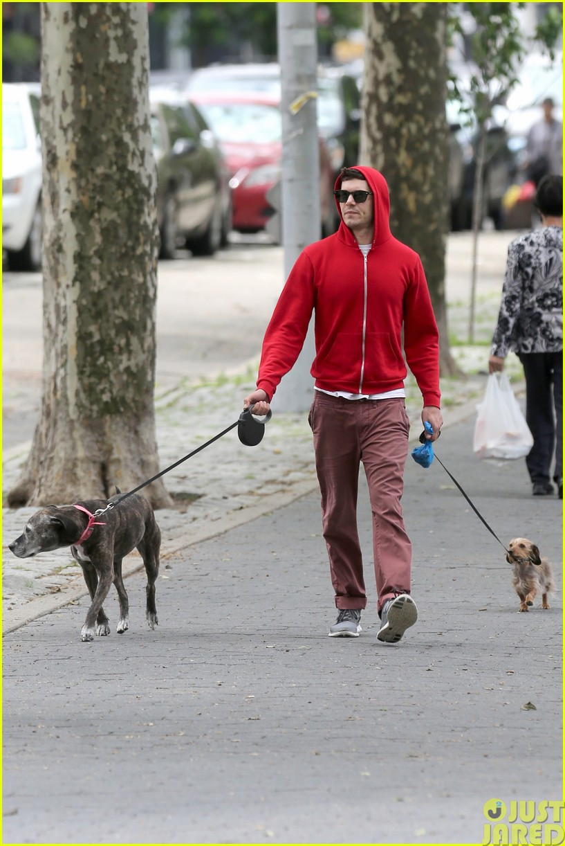 adam brody walks the dogs in his favorite sweatshirt033121660