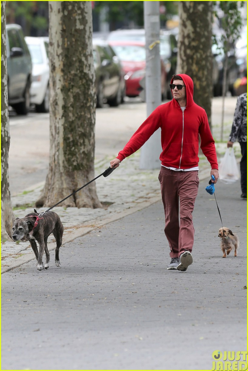 adam brody walks the dogs in his favorite sweatshirt123121669