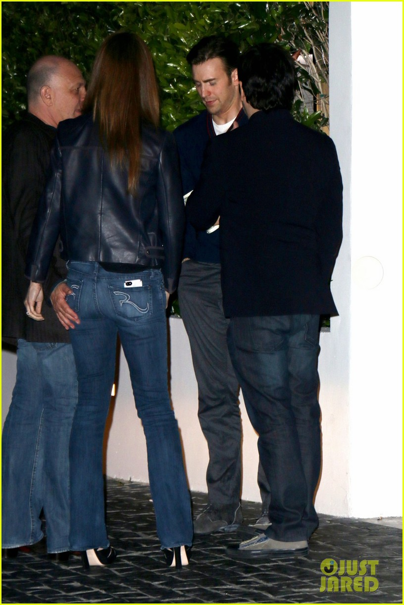 sandra bullock chris evans chelsea handler have dinner together 023108622