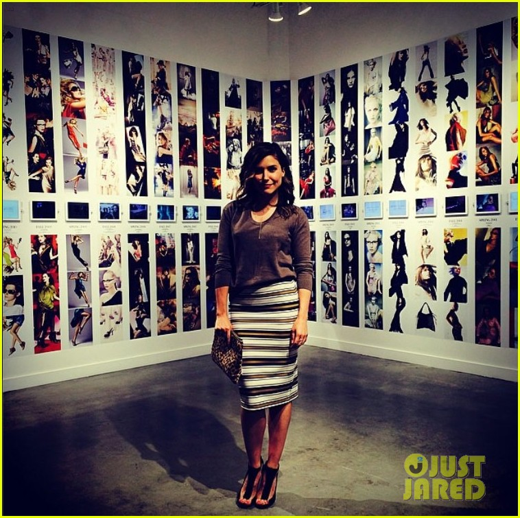 sophia bush in awe bcbg retrospective exhibit 023110138