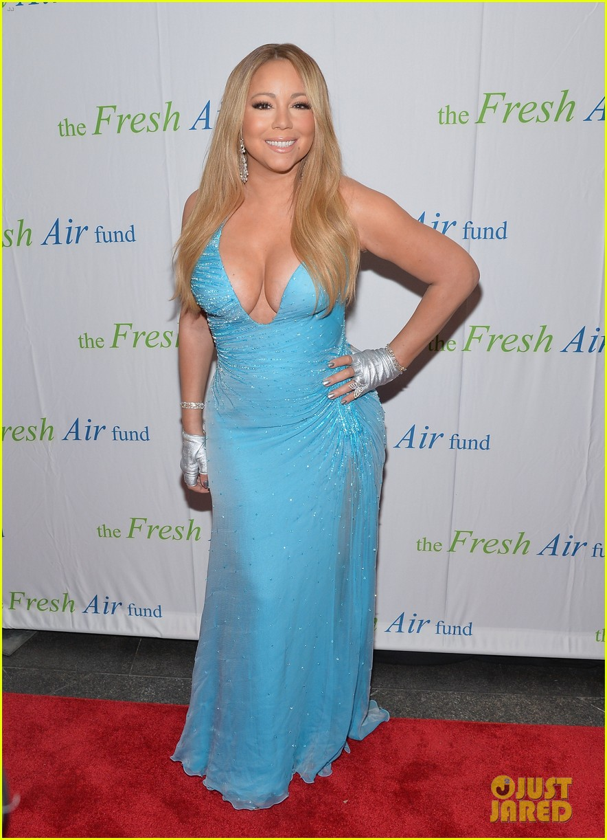 mariah carey flaunts major cleavage fresh air fund gala 023124322