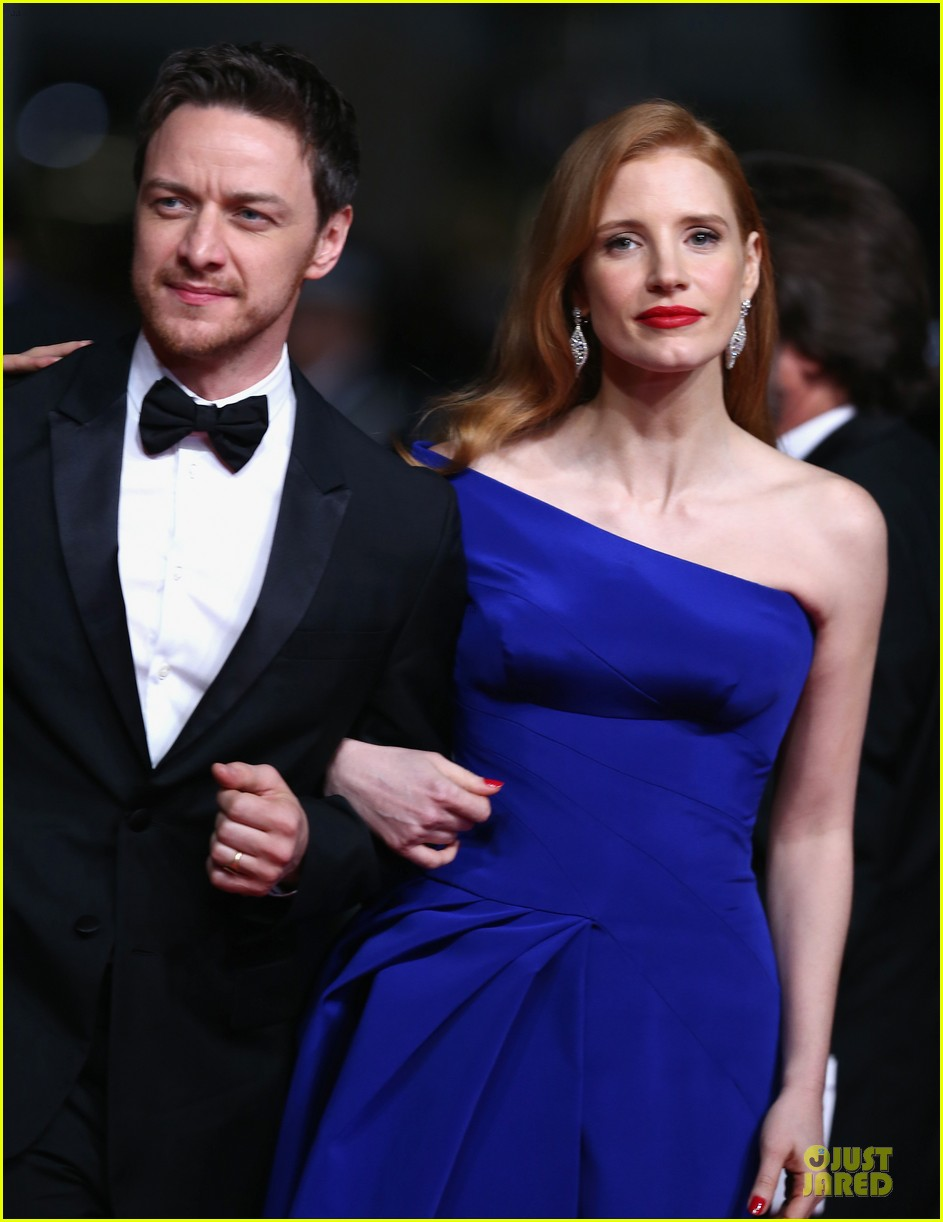 jessica chastain blue at disappearance of eleanor rigby cannes premiere 02