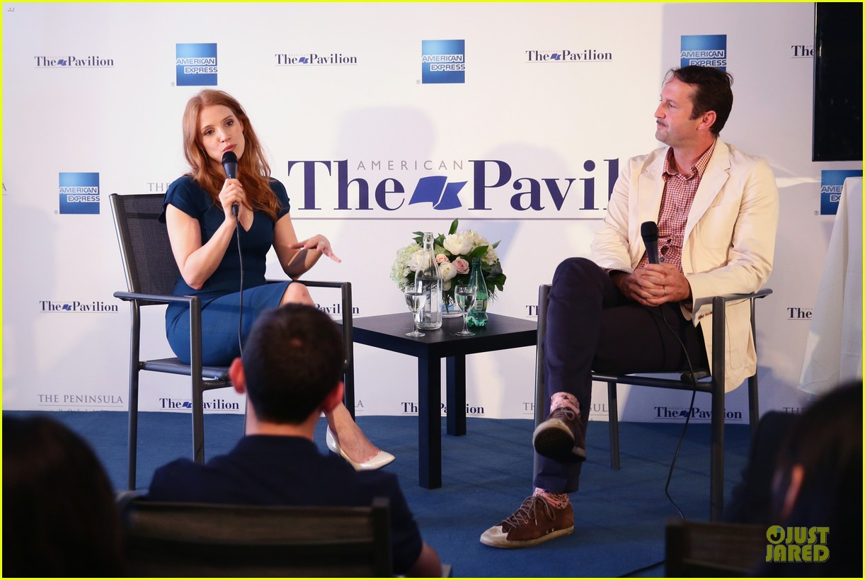 jessica chastain inspiring to students at cannes 063118277