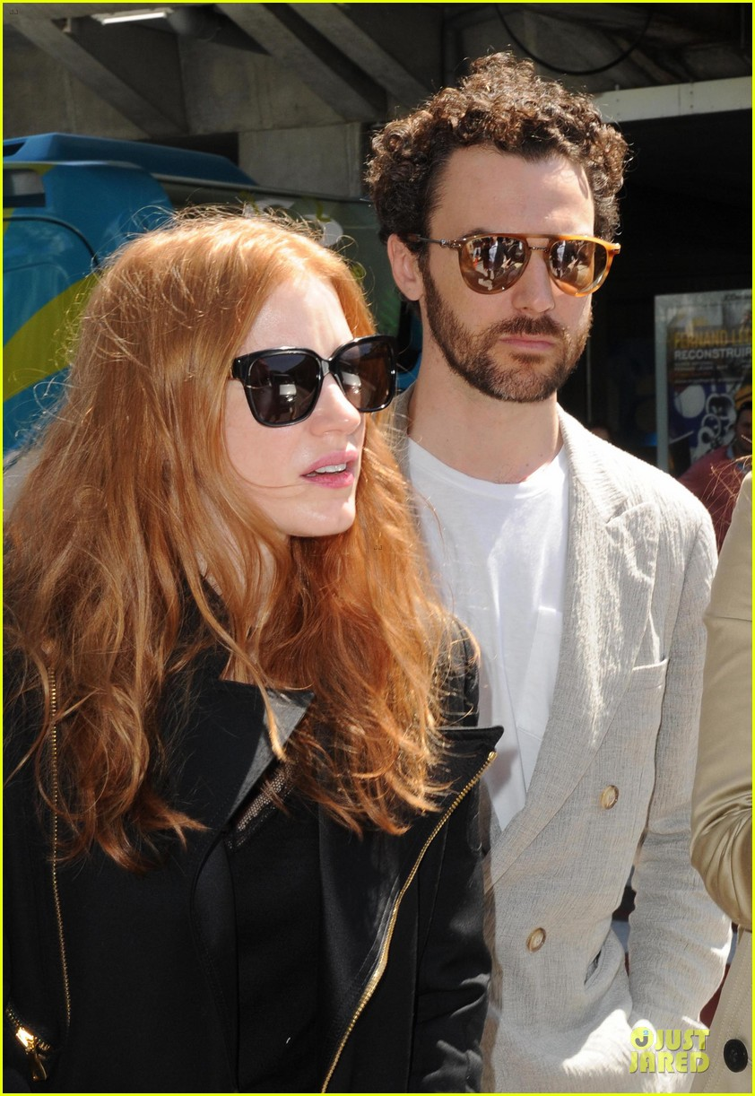 jessica chastain boyfriend bring love to nice 083115561