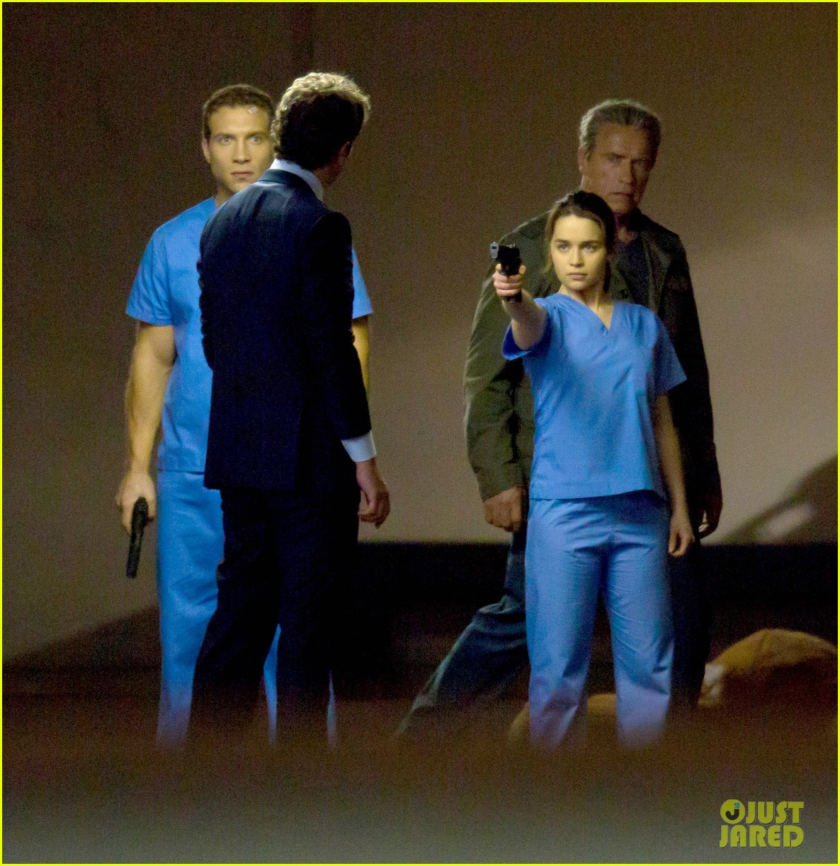 emilia clarke super fierce on terminator genesis set 043124338
