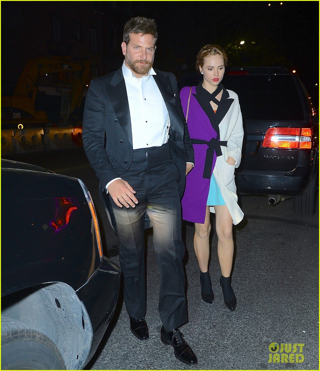 bradley cooper suki waterhouse hold hands at met ball after party 2014 013106738