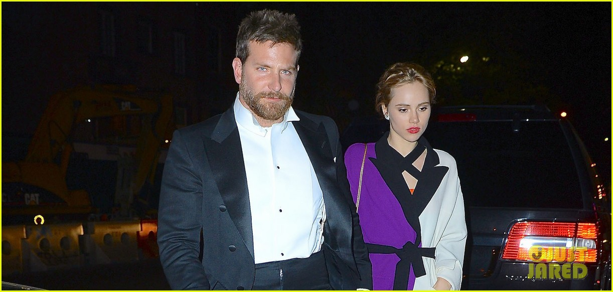 bradley cooper suki waterhouse hold hands at met ball after party 2014 033106740