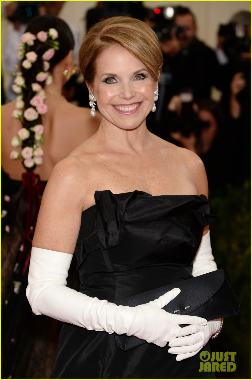 katie couric white glove glam at met ball 2014 043105997