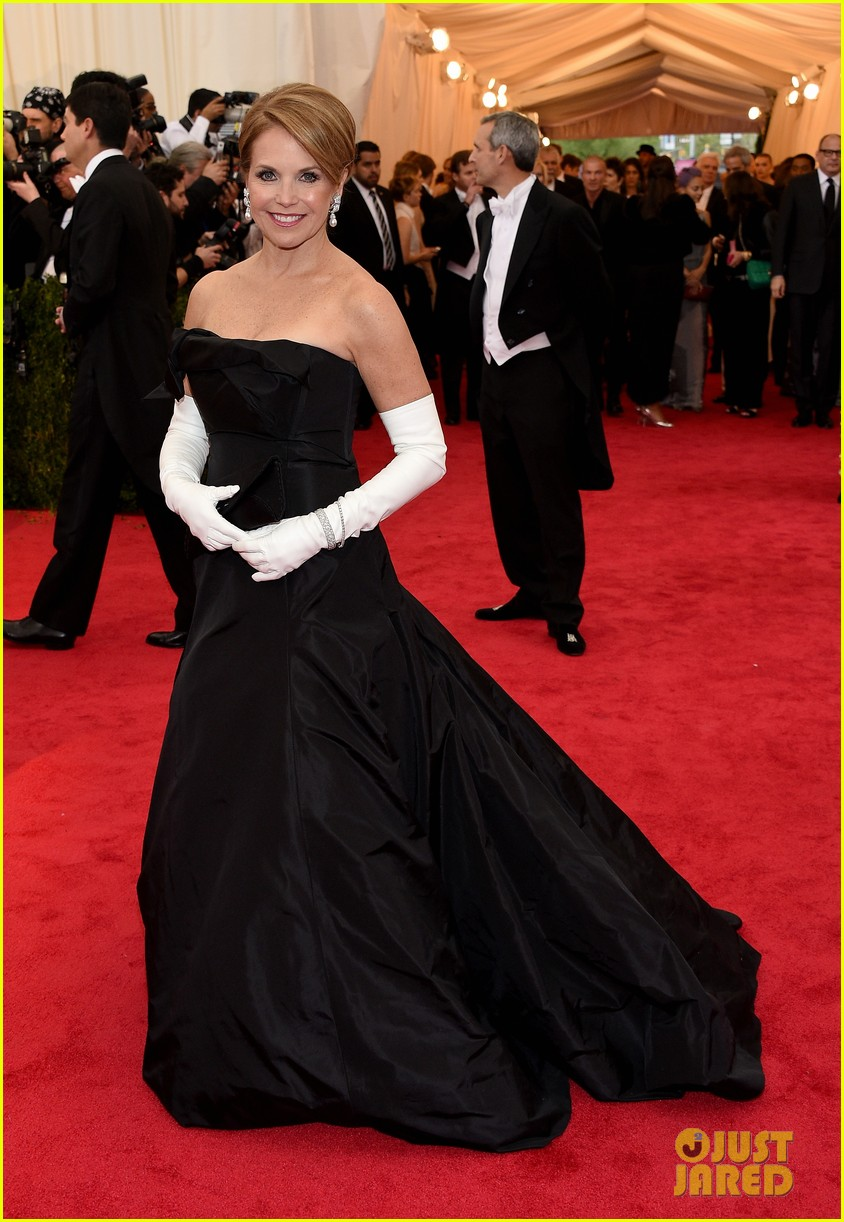 katie couric white glove glam at met ball 2014 053105998