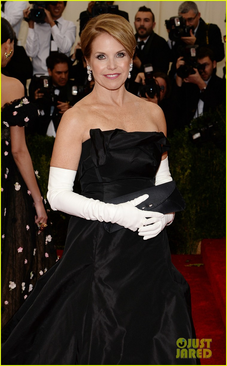katie couric white glove glam at met ball 2014 073106000