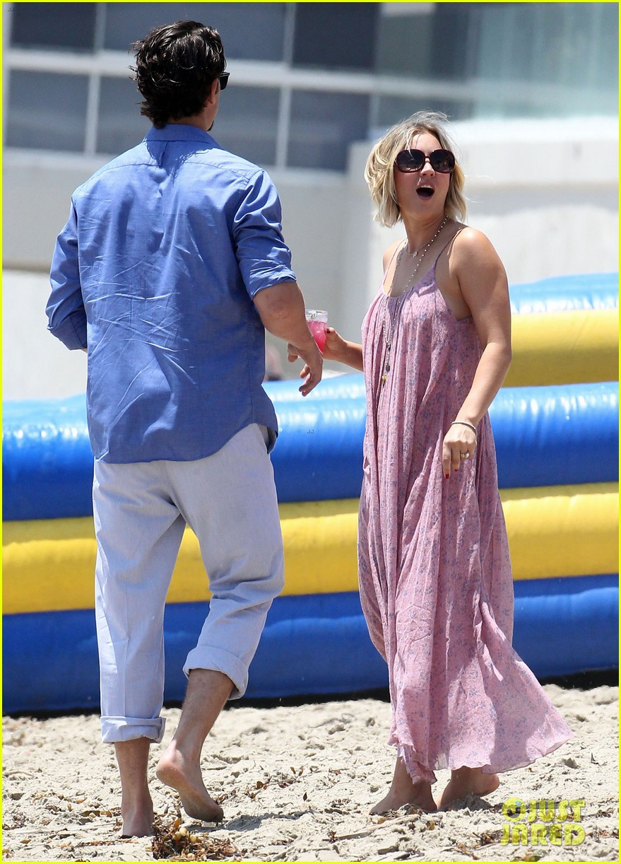 kaley cuoco hits up joel silvers memorial day party with ryan sweeting 053122538