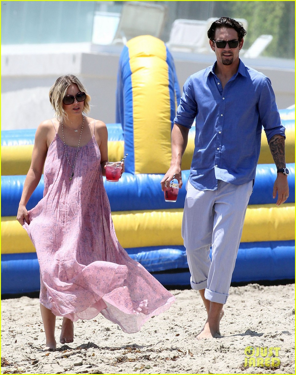 kaley cuoco hits up joel silvers memorial day party with ryan sweeting 233122556