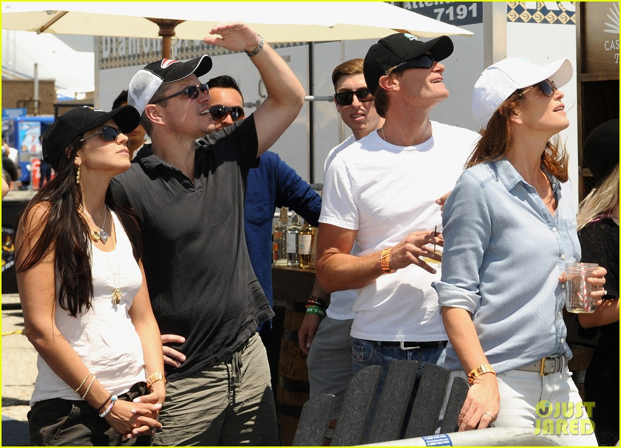 matt damon wife luciana mingle horsemen flight team 133105171