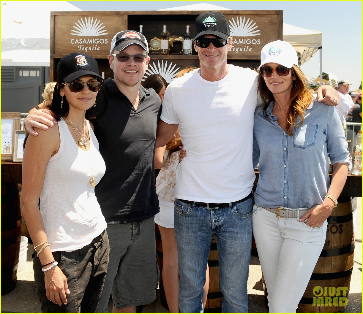 matt damon wife luciana mingle horsemen flight team 17