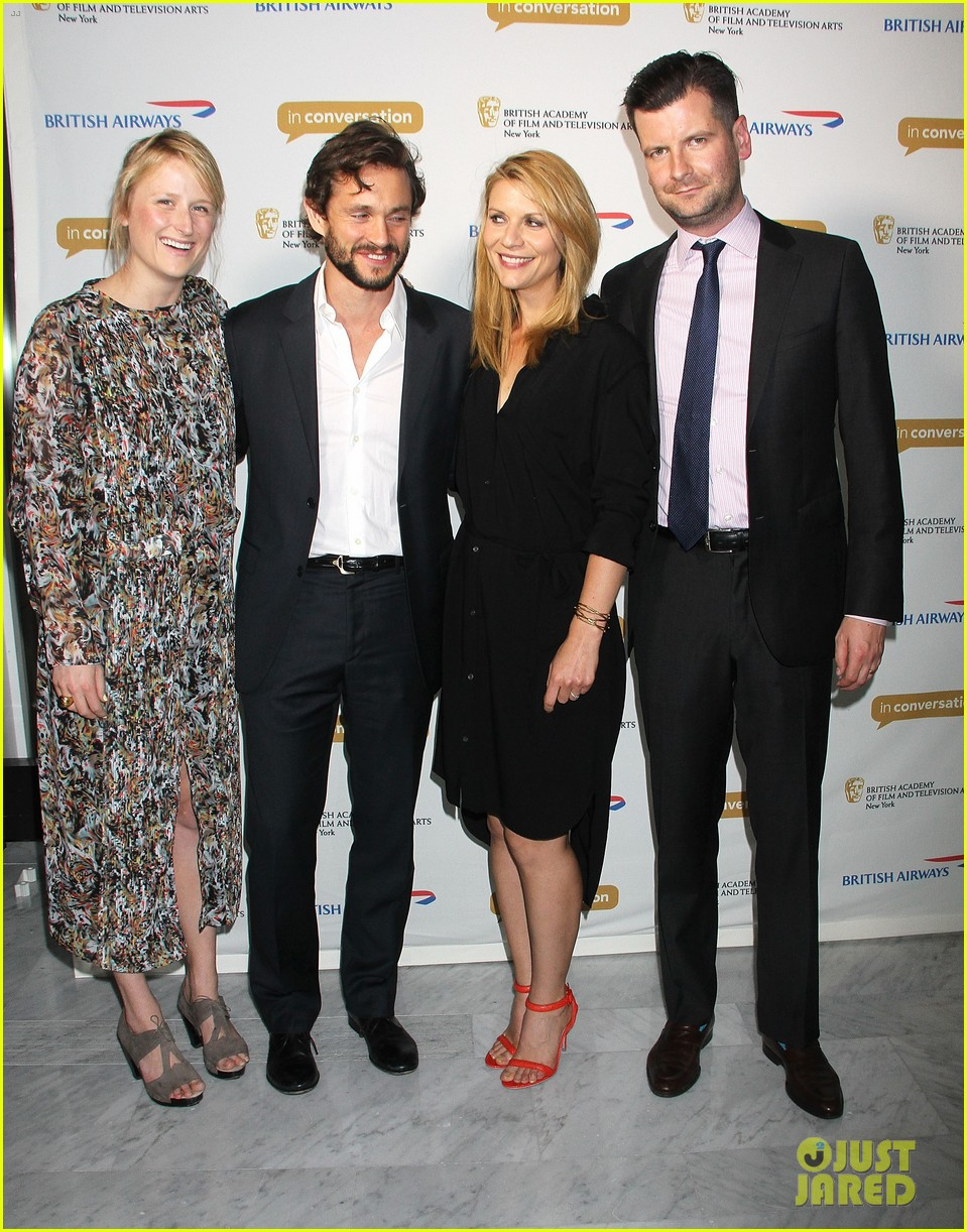 claire danes supports hubby hugh dancy at bafta conversation 023114951
