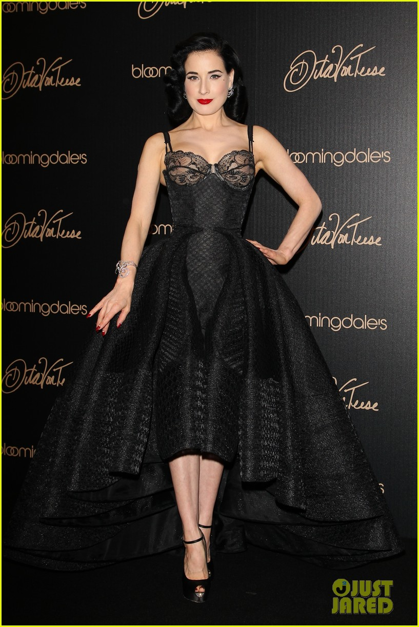 Dita Von Teese Shows Off New Lingerie Line At Bloomingdales Launch