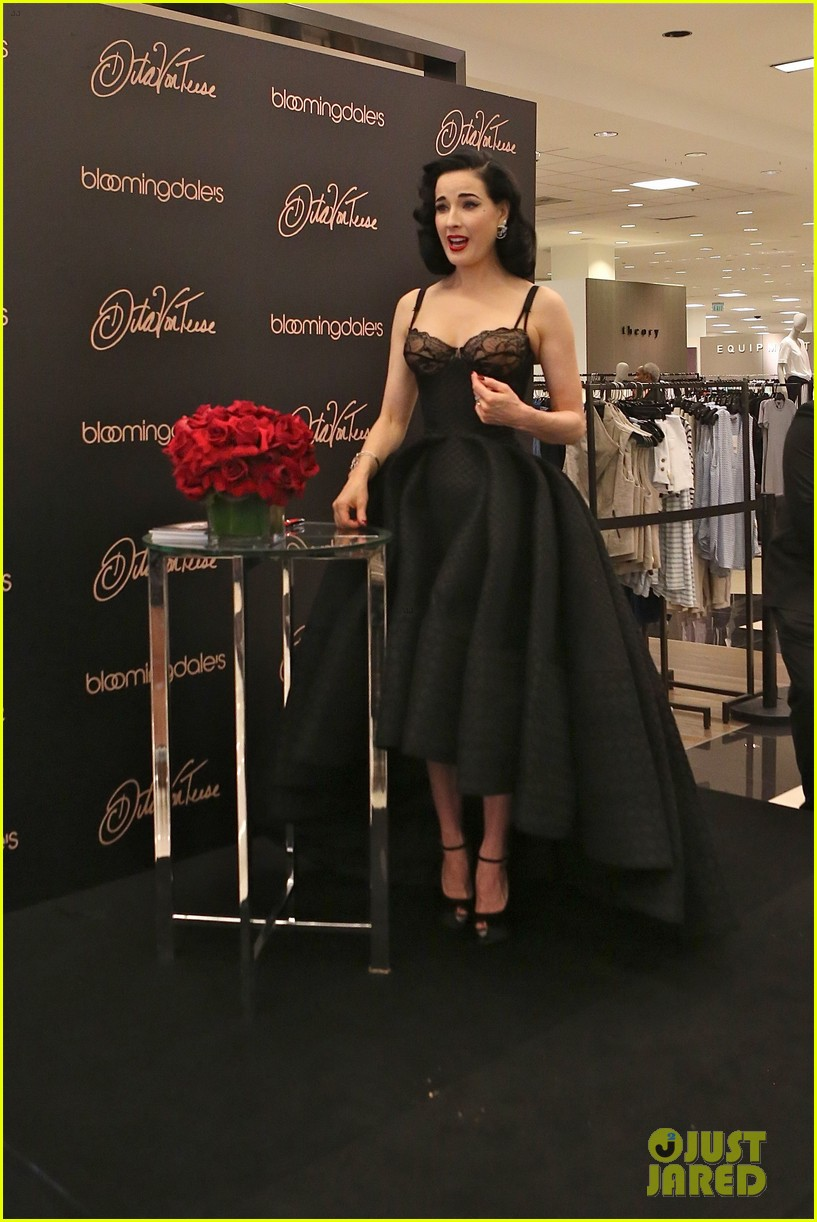5a97485b57c Dita Von Teese Shows Off New Lingerie Line at Bloomingdale s Launch ...