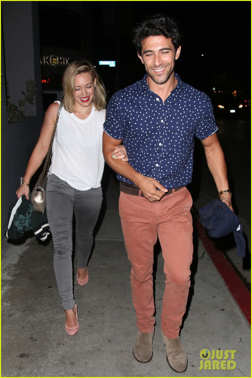 hilary duff hits the town with stylist marcus francis 053124579