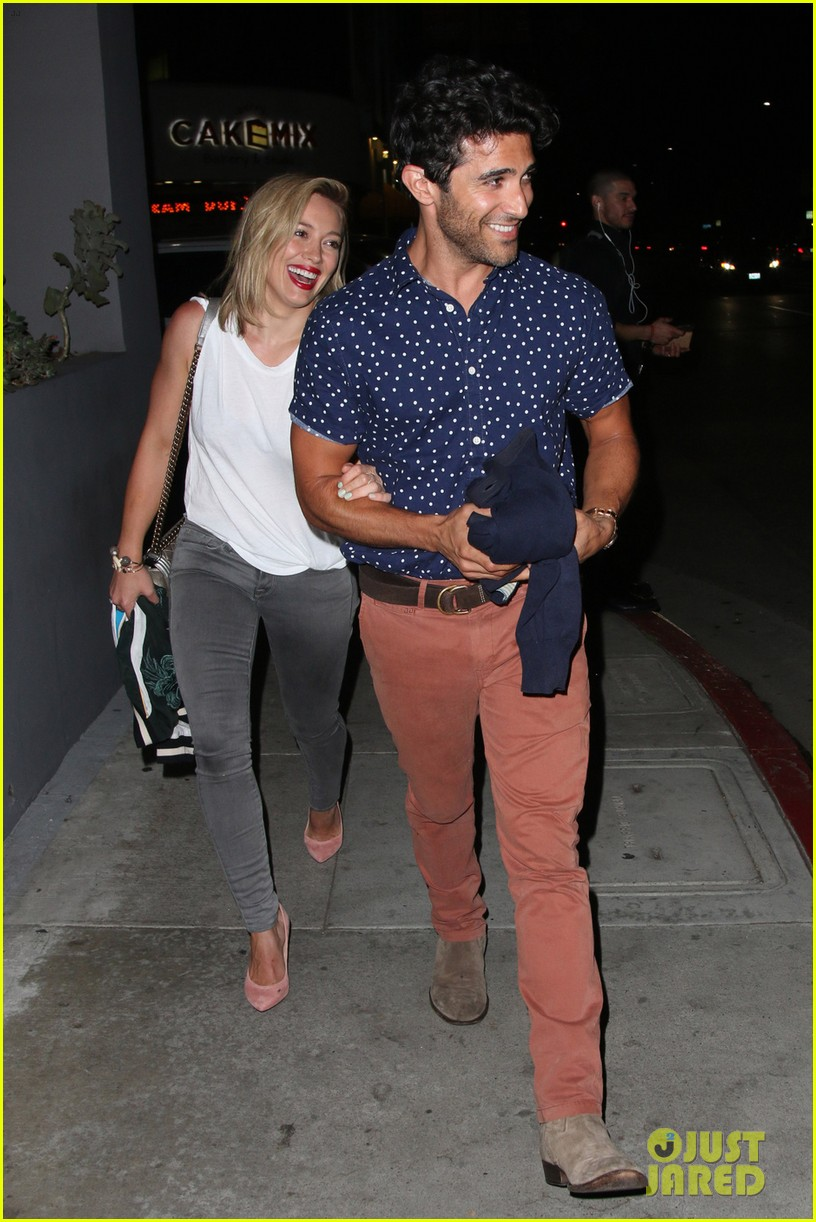 hilary duff hits the town with stylist marcus francis 153124589