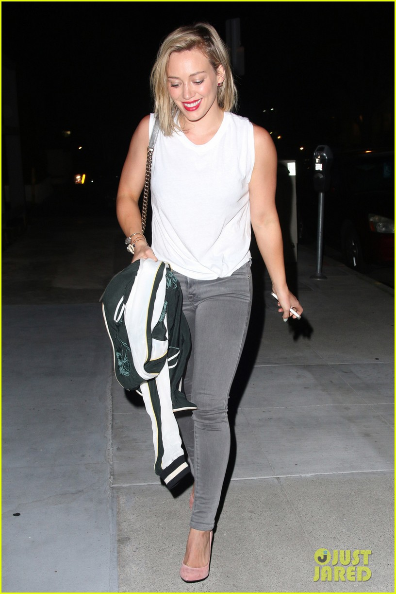 hilary duff hits the town with stylist marcus francis 173124591