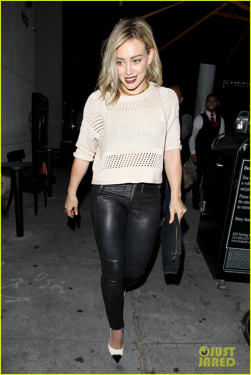 hilary duff shares adorable pic luca night out friends 063122069