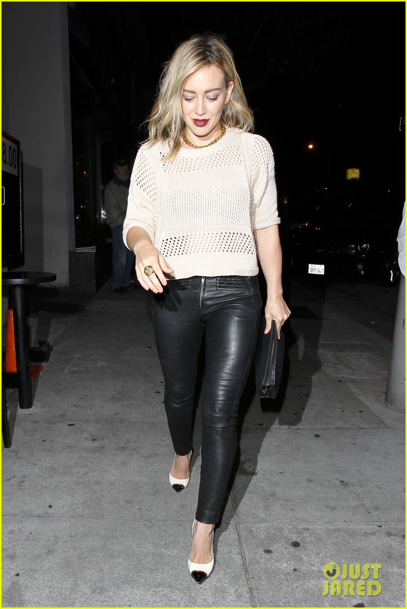 hilary duff shares adorable pic luca night out friends 093122072