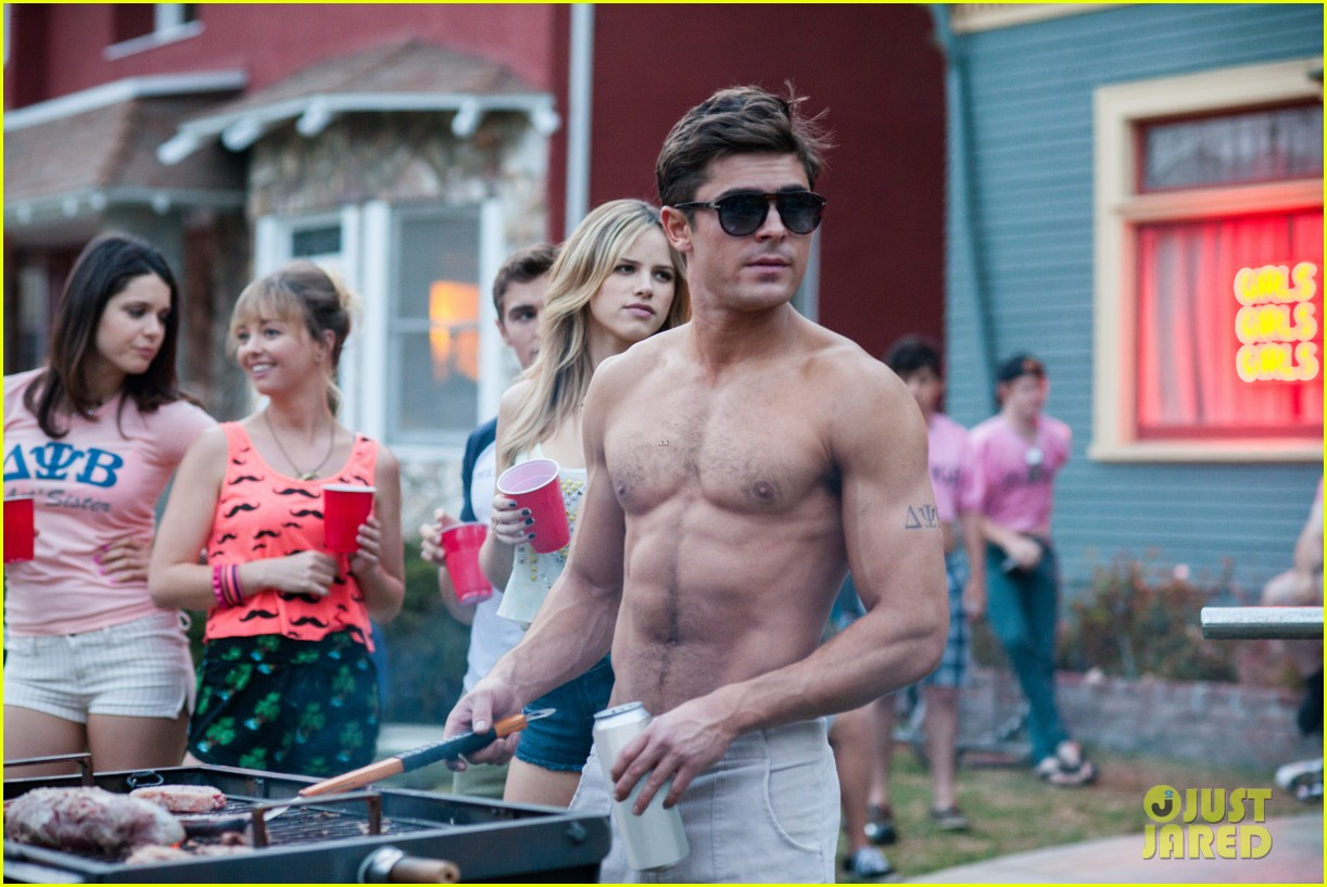 shirtless zac efron taking over movie theaters neighbors 043105591