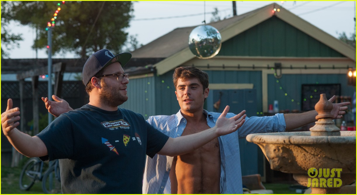 shirtless zac efron taking over movie theaters neighbors 263105613