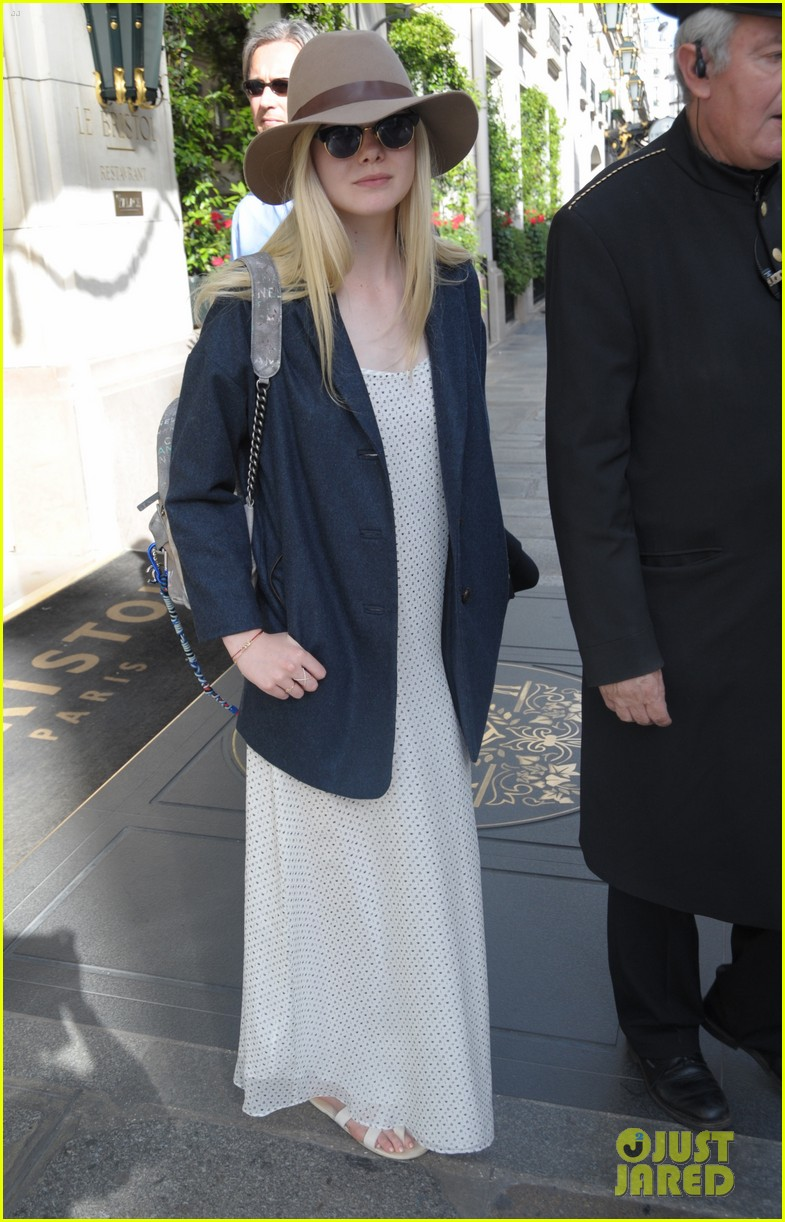 elle fanning looks like royalty at maleficent private reception 053108702