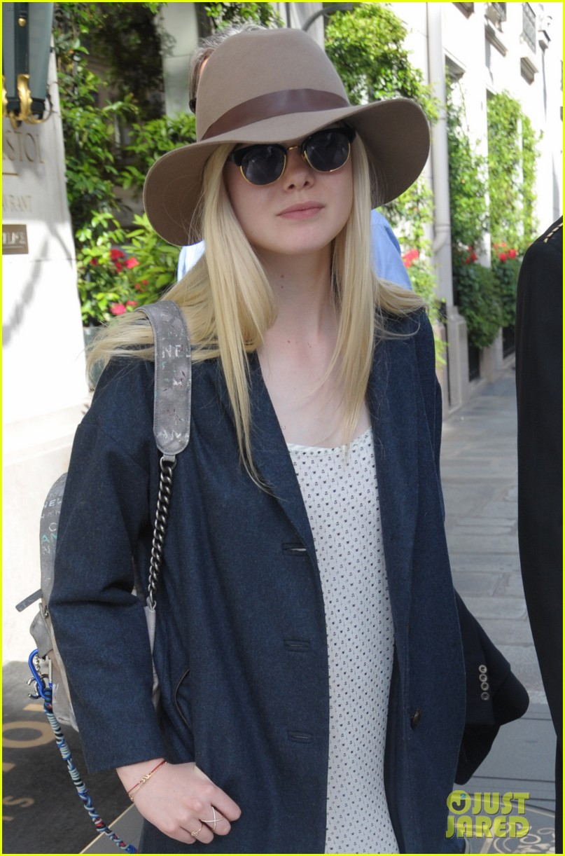 elle fanning looks like royalty at maleficent private reception 113108708