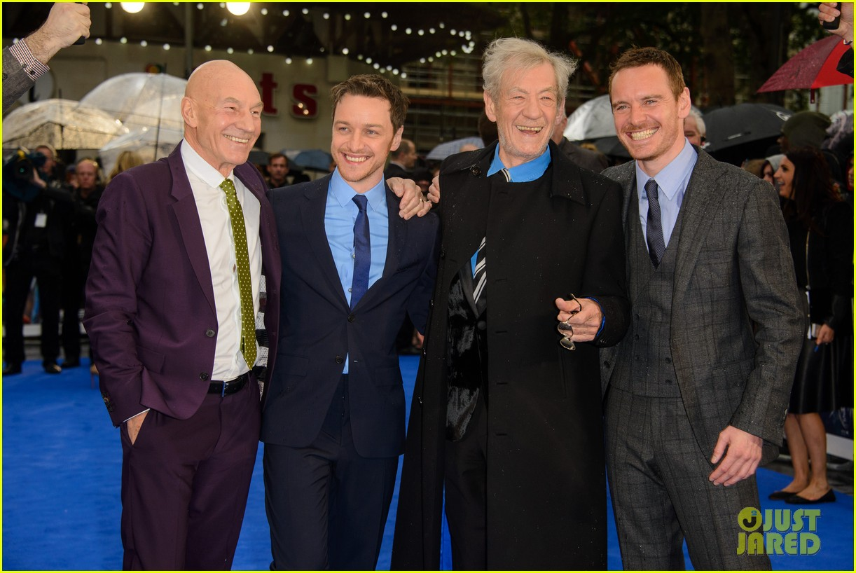 michael fassbender james mcavoy x men london premiere 25