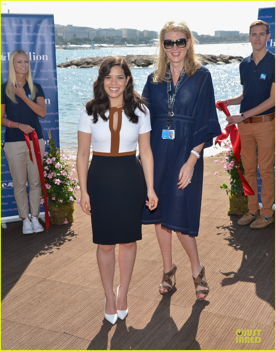 america ferrera american pavilion cannes opening 05