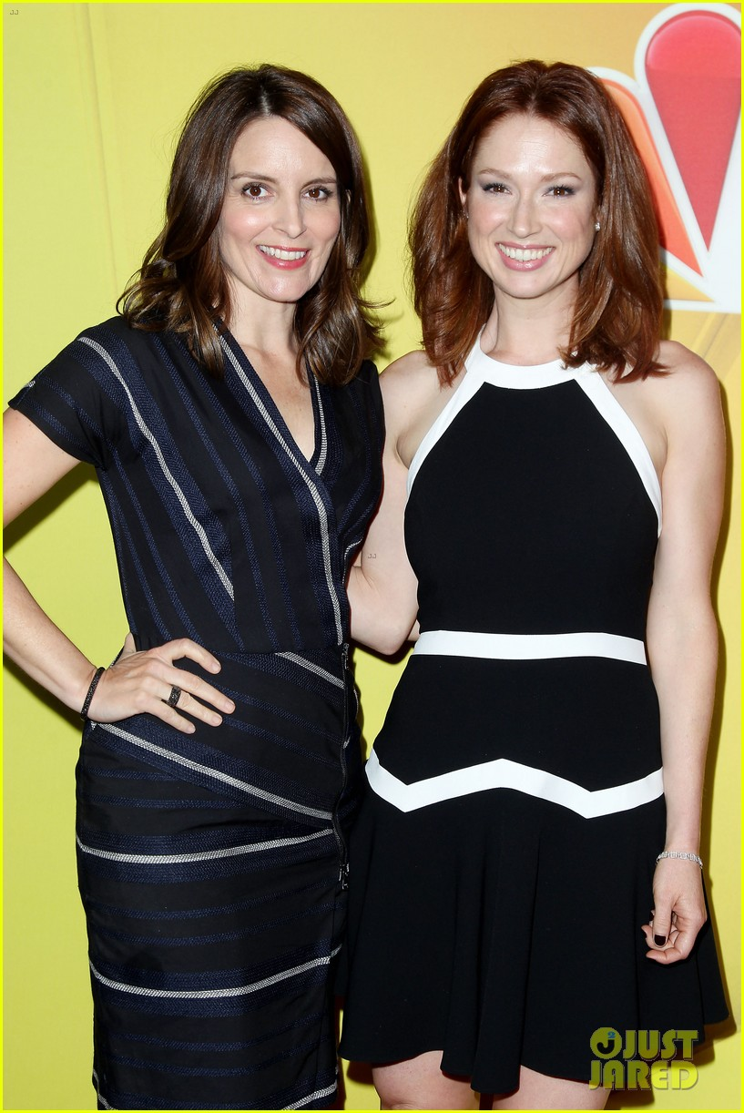tina fey ellie kemper team up at nbc upfronts 2014 043111630