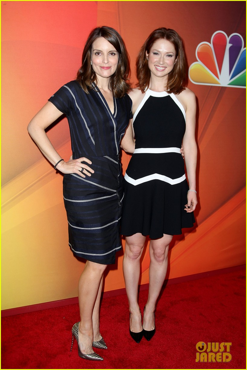 tina fey ellie kemper team up at nbc upfronts 2014 193111645