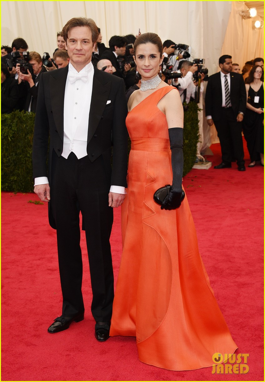 colin firths wife livia stares lovingly at her husband at met ball 2014 033106572