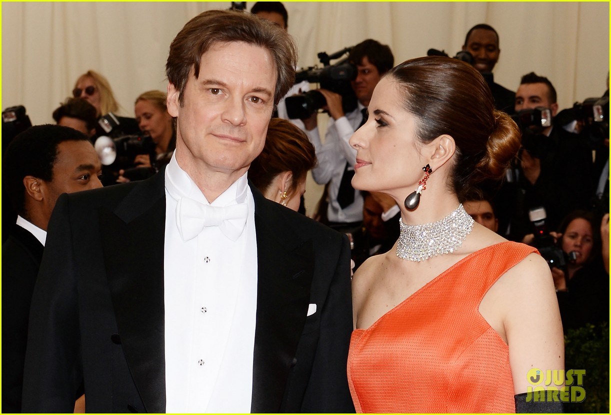 colin firths wife livia stares lovingly at her husband at met ball 2014 043106573