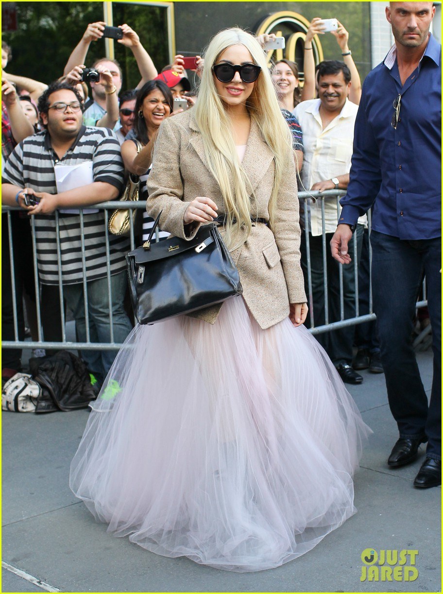 lady gaga sheer gown nyc best day off ever 023122076